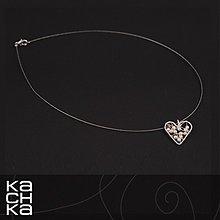 Náhrdelníky - Drôtený náhrdelník - Zo srdca biele - 6130