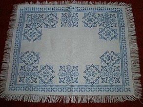 Úžitkový textil - Jedinečný modrý obrus - 614983