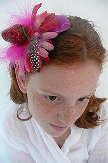 Ozdoby do vlasov - Fuchsie a jahoda by Hogo Fogo - 621556