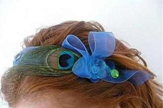 Ozdoby do vlasov - Azzuro a pavie oko by Hogo Fogo - 621574