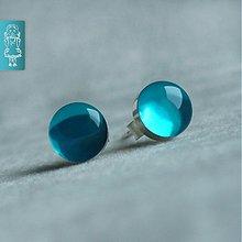 Náušnice - Bublinky peprmintky - stříbro - 623692