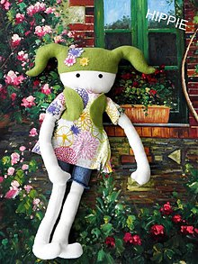 Bábiky - Bábika Hippie - 624699