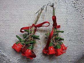Náušnice - kytica ruží - 631091