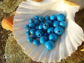 Minerály - tyrkys mix - 4+6+8 mm - 631333