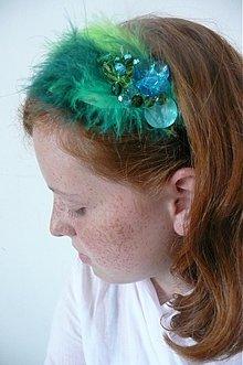 Ozdoby do vlasov - modrozelené trblietanie by Hogo Fogo - 632171