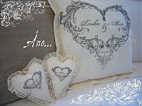 - Svadba - vankúšik a jeho 2 srdiečka - 633744