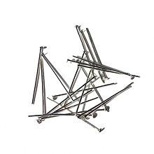 Komponenty - 0565 Ketlovací nit 30 mm, farba nikel, 12 ks - 635161