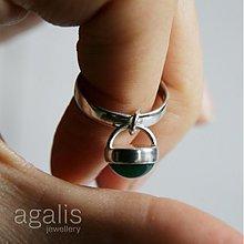 Prstene - Hravo elegantný achát (Ag 925) - 637734