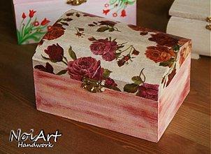 Krabičky - S ružami - 642661