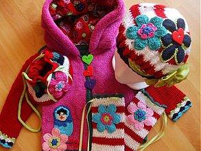 Detské čiapky - Súprava-beretka+kabelka+štucne - 643351