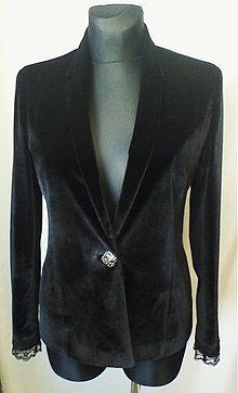 Kabáty - Velúrové podšívané sako - 644310