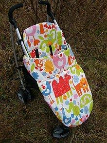 Detské súpravy - Zateplený nánožník + podložka do kočíka - 644366