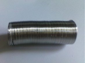 Suroviny - Pamäť.drôt na prstienky 20mm-platina-10 ot - 648973