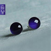 Náušnice - Švestkové bublinky - stříbro - 650557