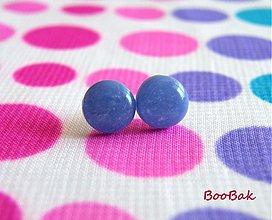 Náušnice - Sivo-fialové menšie - 654277