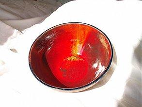 Nádoby - miska  červená