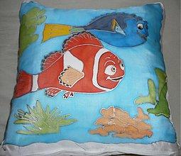 Úžitkový textil - Rybičky vankúšik - 65637