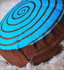 """Úžitkový textil - Meditačný vankúš""""Spirála"""" - 662922"""