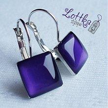 Náušnice - Fialový nádech luxusu.... - 664551