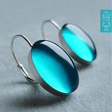 Náušnice - Z modré laguny - stříbro - 666411