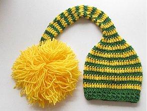 Detské čiapky - Elfská žlto-zelená... - 669222