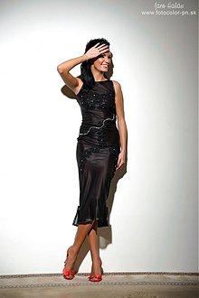 Šaty - čierne priesvitné šaty - 678879