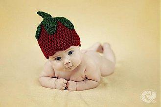 Detské čiapky - Jahôdka:-) - 680119