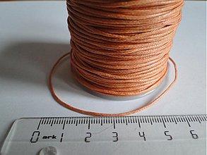 Galantéria - Vosk.šnúrka 1mm-1m (oranžová) - 683484
