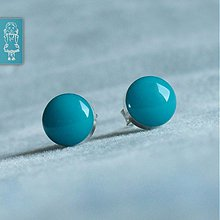 Náušnice - Turquoise - stříbro - 684667