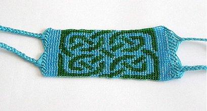 Náramky - modry keltsky vzor - 68584