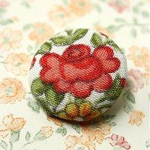 Materiál ručne robený - Buttonky Šípková ruženka 26 mm - 685907