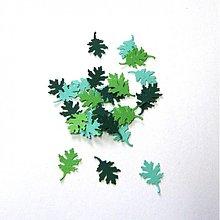 Papier - S003 Výseky z papiera - dubový list, 30 ks - 689524