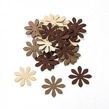 Papier - S007 Výseky z papiera - kvety, 30 ks - 689573