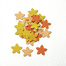 Papier - S010 Výseky z papiera - kvietky, 30 ks - 689634