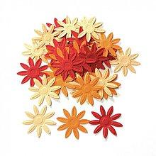 Papier - S012 Výseky z papiera - embosované kvety, 30 ks - 689673