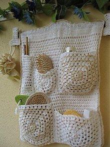 Úžitkový textil - Kozmetický závesný kapsár \