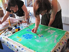 Kurzy - Workshop - maľba na hodváb - 693924