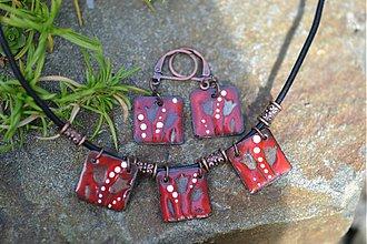 Sady šperkov - červené tulipány - 708175
