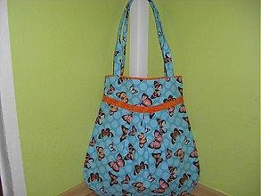 Veľké tašky - Motýliky v TYRKYSE - 709570