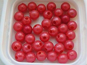 Korálky - Plast 8mm-20ks (červená) - 713662