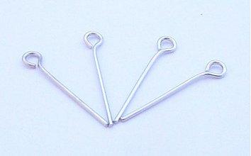 Komponenty - Ihla 2,4 cm platinová / 30ks - 725651