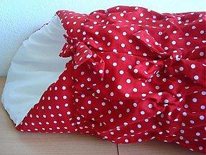 Textil - Zavinovačka červená bodka - 732506