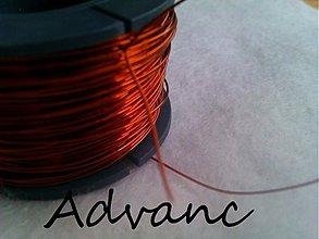 Suroviny - Drôt medený 0,3mm 2m - 738268