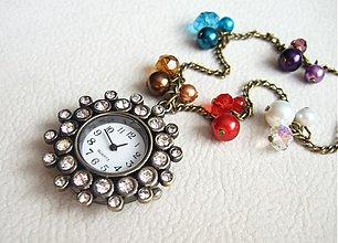 Náhrdelníky - kryštálové hodiny - 738741