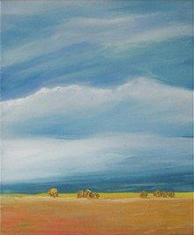 Obrazy - Krajina s obilím - 740589