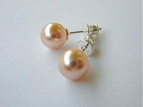 Náušnice - Swarovski perličky 8 mm v troch farbách !!!! - 747691