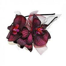 Ozdoby do vlasov - Vínová orchidea ZĽAVA z 12,90 - 762973