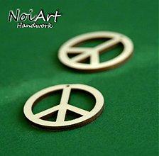 Materiál ručne robený - Peace 4 cm - 763870