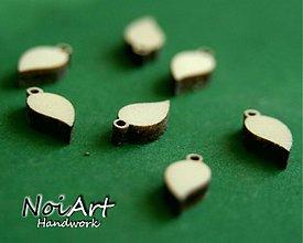 Materiál ručne robený - Lístok malý - 764164