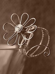 Prstene - Margarétka, prsteň - 76441